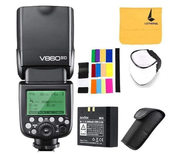 Godox V860II-C 2.4G GN60 inalambrico E-TTL-HSS 1/8000s-Bateria Lion-Flash-Speedlite-cámaras-Canon