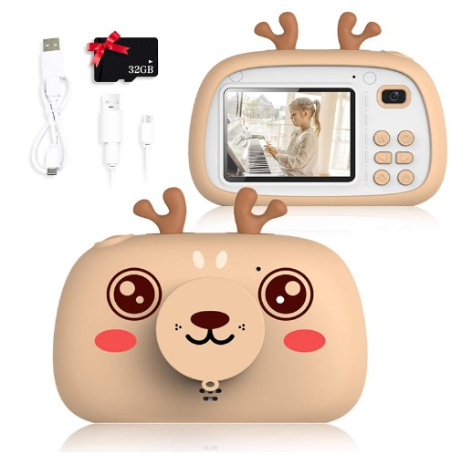 SWEET CARROT-cámara-digital-8 megapíxeles, l-flash-tarjeta SD de 32 Gg -niñas-niños-regalos-cumpleaños