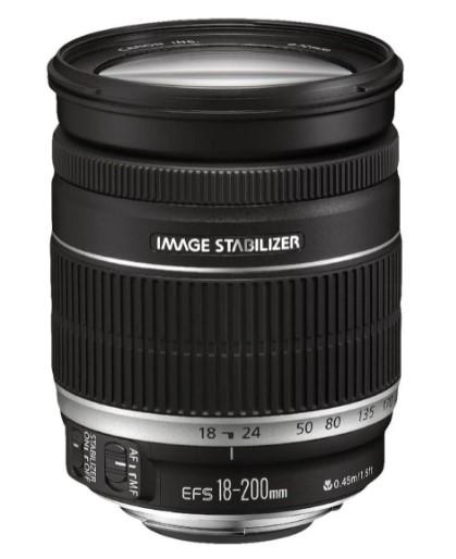 Canon EF 18-200mm f/3.5-5.6 IS - Objetivo-Canon-Distancia Focal 18-200mm-Apertura f/3.5-5.6-Zoom óptico 11x-estabilizador-diámetro 72mm)