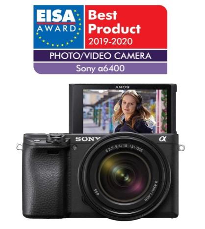Sony Alpha 6400 - Cámara evil APS-C-objetivo zoom Sony 18-135mm f/3.5-5.6-Enfoque automático rápido 0.02s-24.2 Megapíxeles-grabación de vídeos en 4K-pantalla inclinable-Vlogging