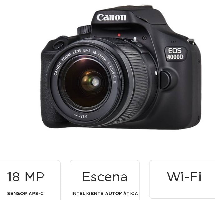 cámara-réflex-canon-eos-4000d-marca-principiantes-fotografica
