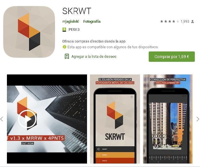 SKRWT-corrección-distorsiones-lente-aplicación-app-móvil-edición-fotos